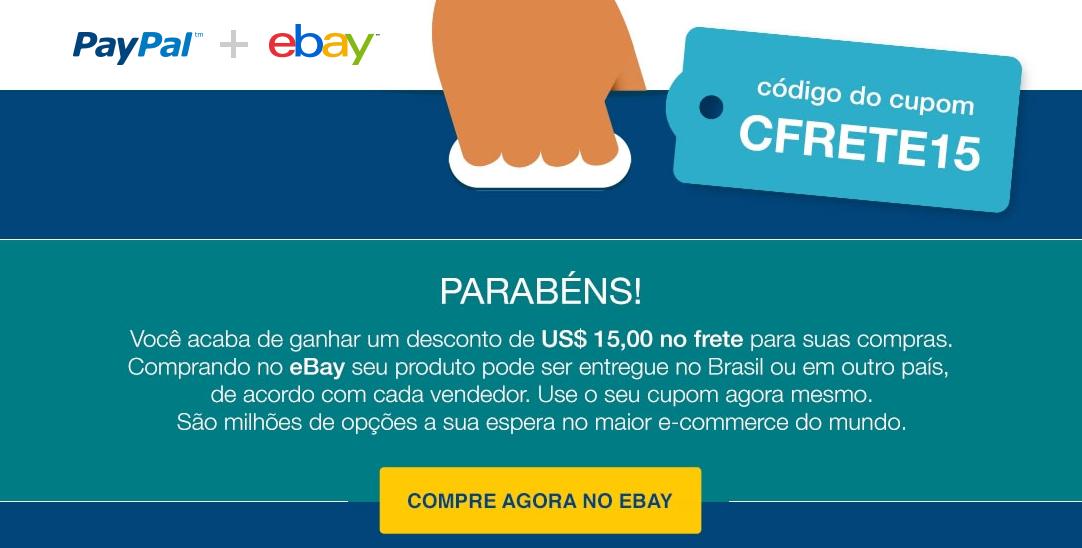 ebay paypal desconto frete