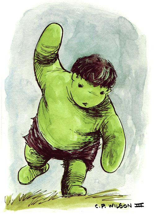 O Ursinho Pooh que virou O Ursinho Hulk 01