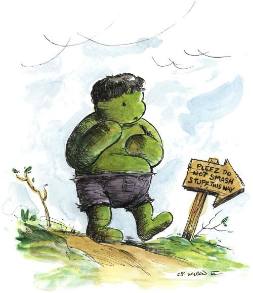 O Ursinho Pooh que virou O Ursinho Hulk