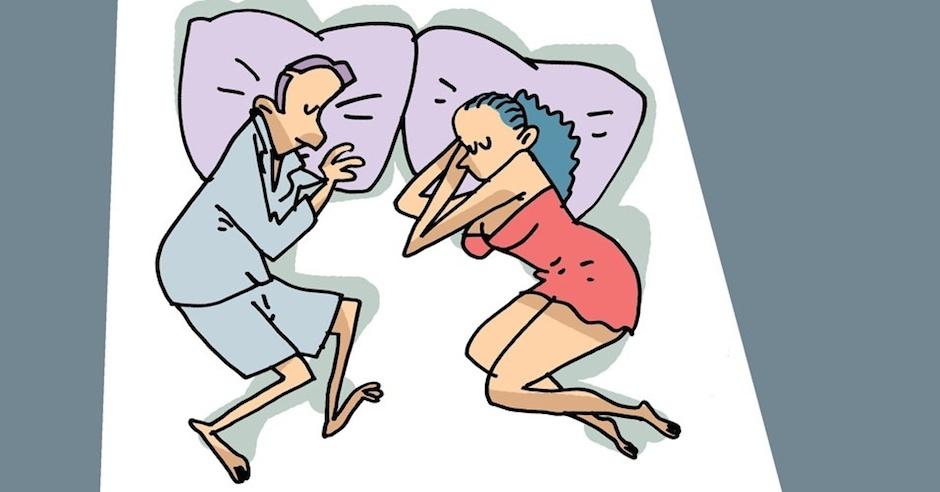 Posição dormir de frente para outro