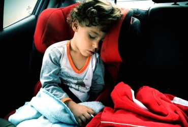 Padawan dormindo no carro