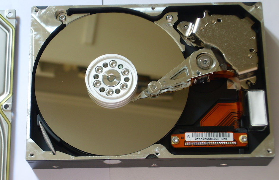 Hard Disk Aberto