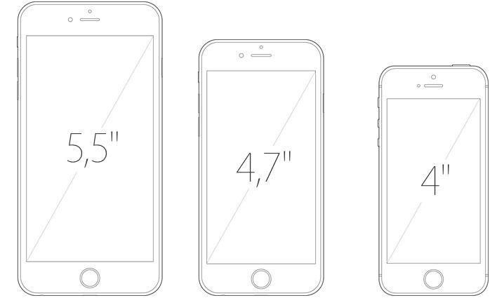 iPhone6 e o iPhne 6 plus - tamanho
