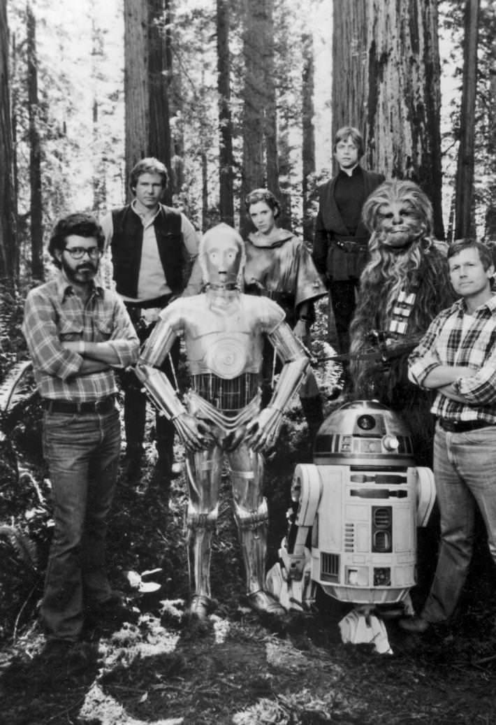 37 fotos raras do Retorno de Jedi Star Wars 24