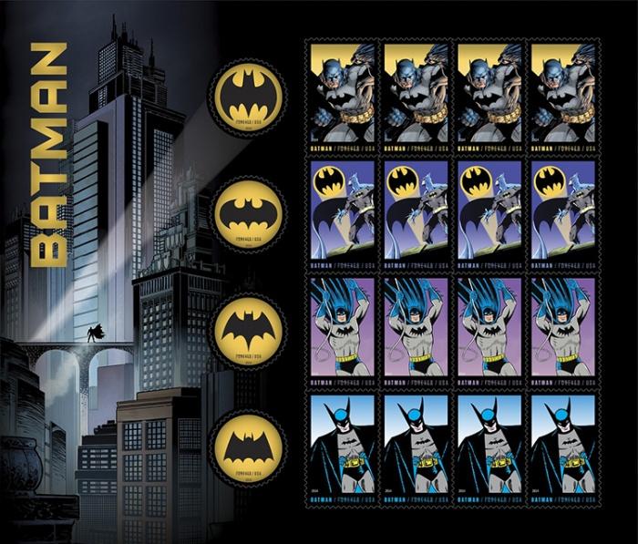 Correio dos EUA lança selos do Batman 01