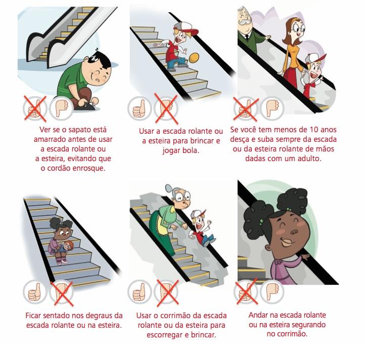 Escada rolante como usar