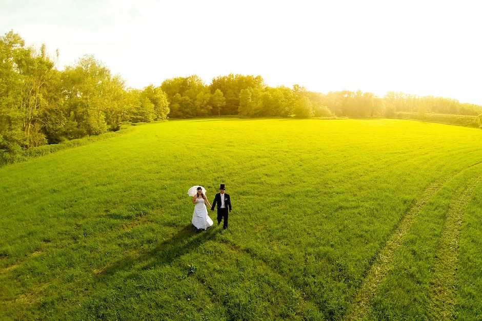 casamento drone