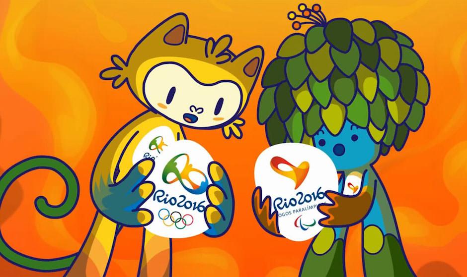 Os Mascotes das Olimpíadas.
