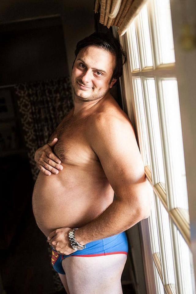 Homem pode fazer ensaio de grávida 01