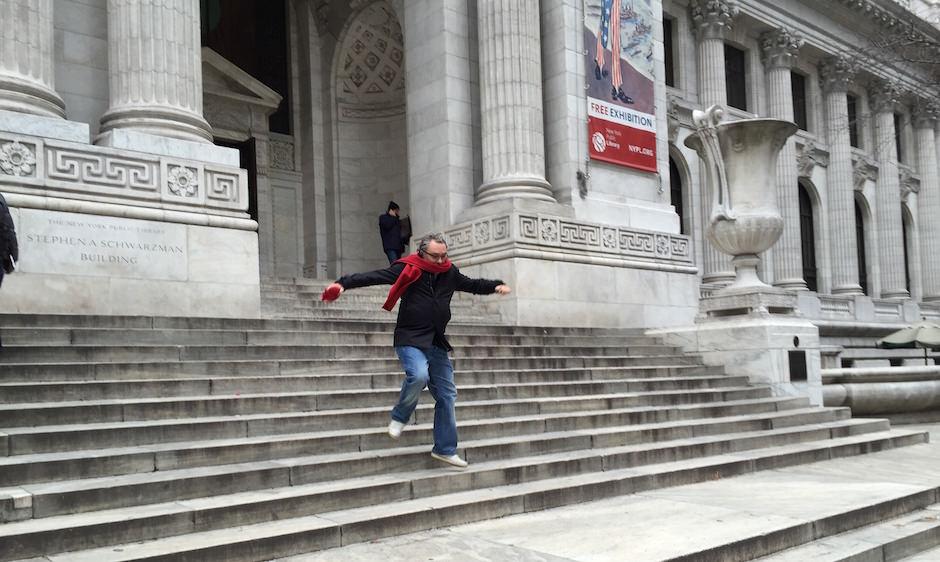escadas biblioteca municipal de nova iorque
