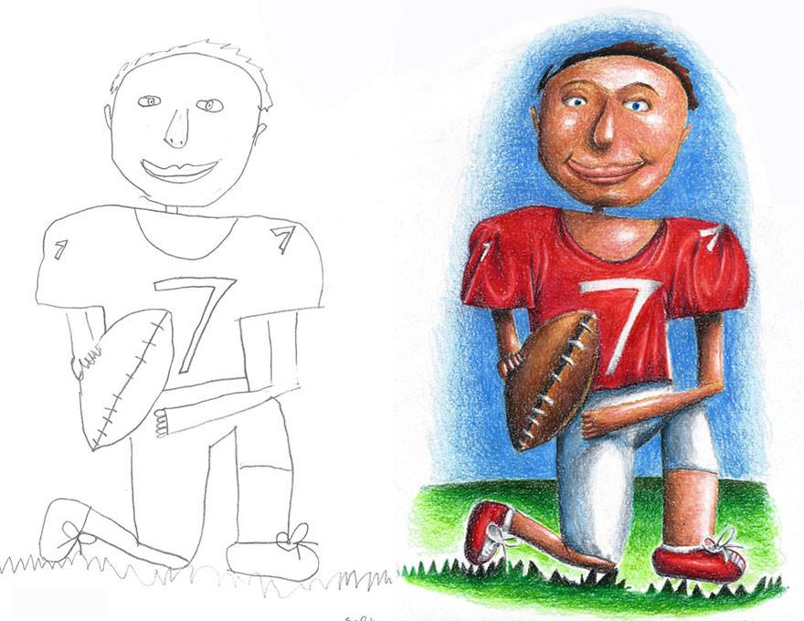 pai pinta desenhos dos filhos 03
