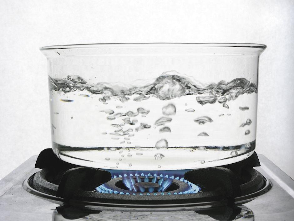 água fervendo
