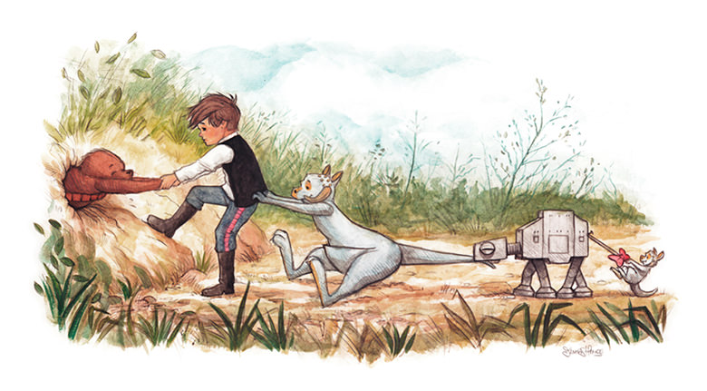 Han Solo, Chewbacca e o Ursinho Pooh 00
