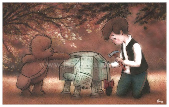 Han Solo, Chewbacca e o Ursinho Pooh 05