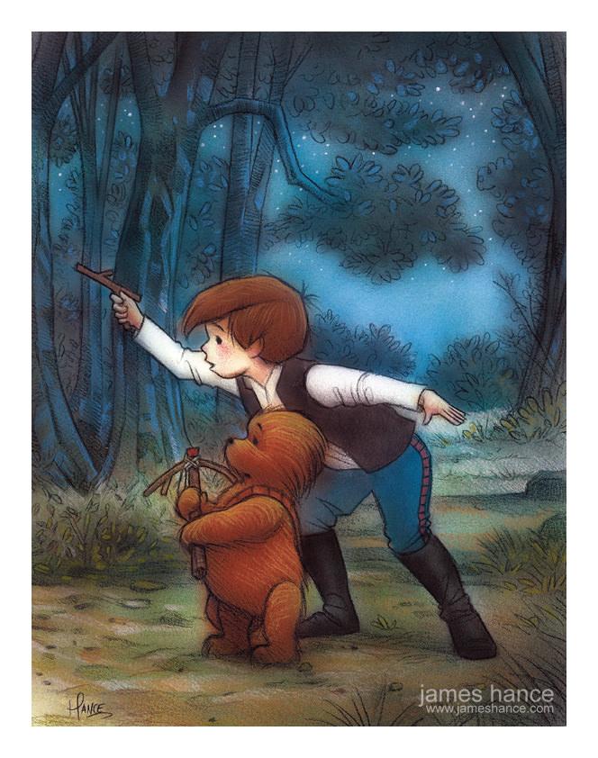 Han Solo, Chewbacca e o Ursinho Pooh 07