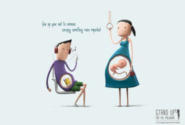Desenhos bonitinhos nos lembram a razão que as grávidas merecem nossos lugares 03