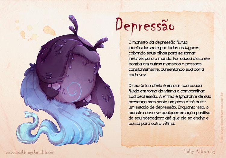 E se os transtornos psiquiátricos fossem monstros - depressao
