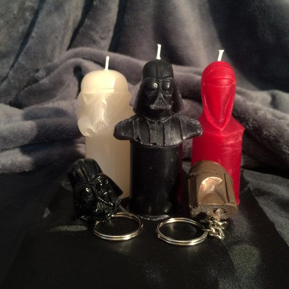 Velas Star Wars - Lado da Luz do Lado Negro da Força