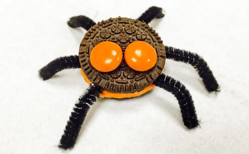 aranha biscoito halloween