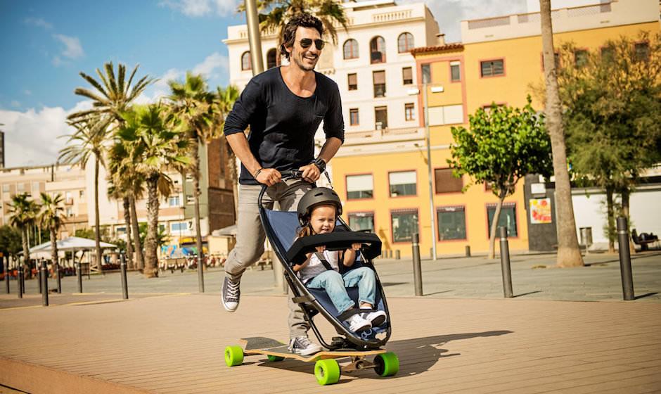 Skate com Carrinho Infantil - Olha que ótima ideia a