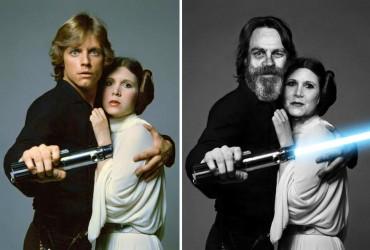 Os atores de Star Wars e o tempo 08