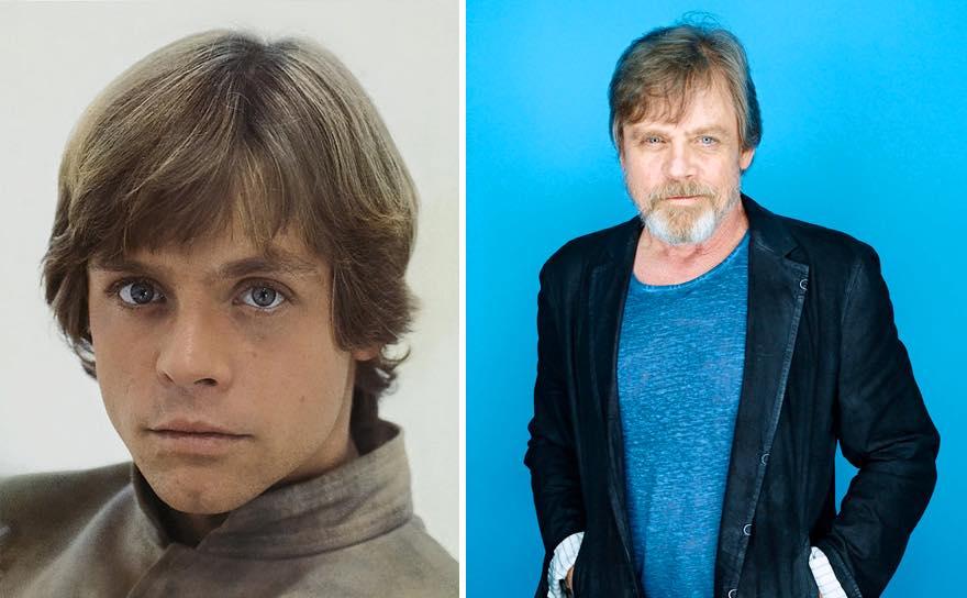 Os atores de Star Wars e o tempo 12