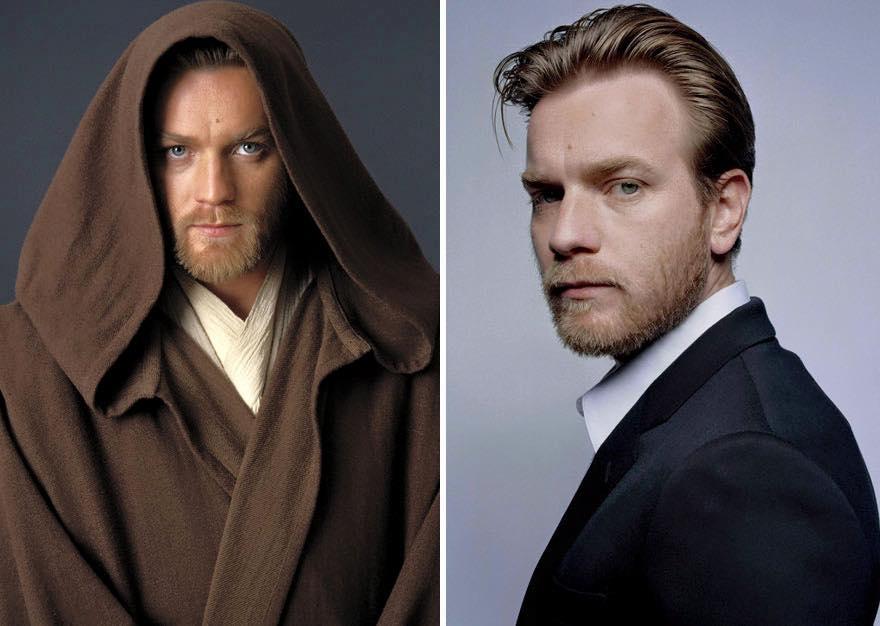 Os atores de Star Wars e o tempo 16