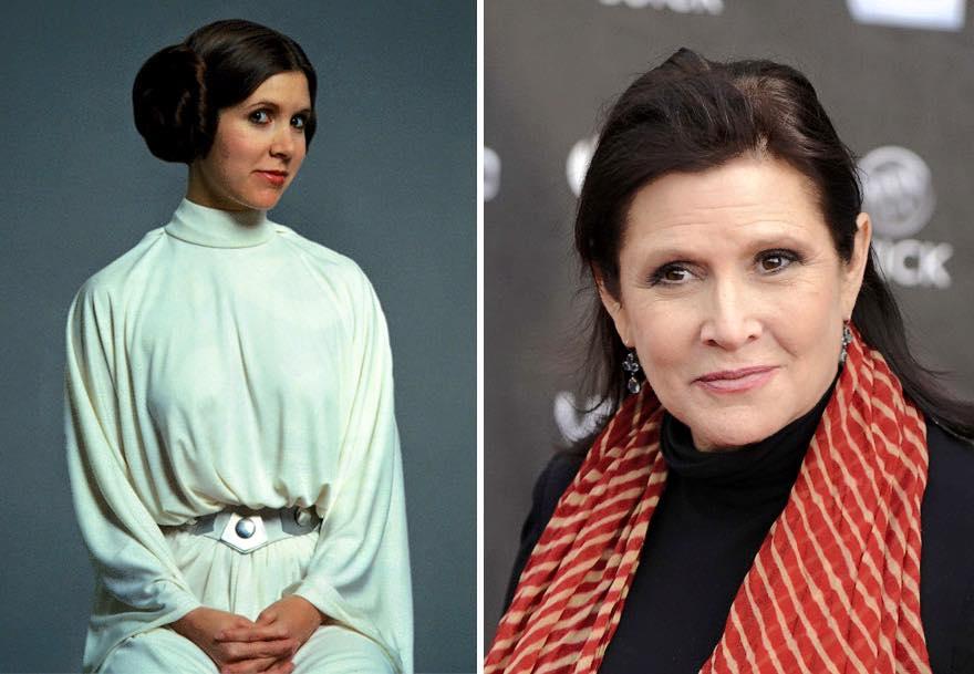 Os atores de Star Wars e o tempo 17