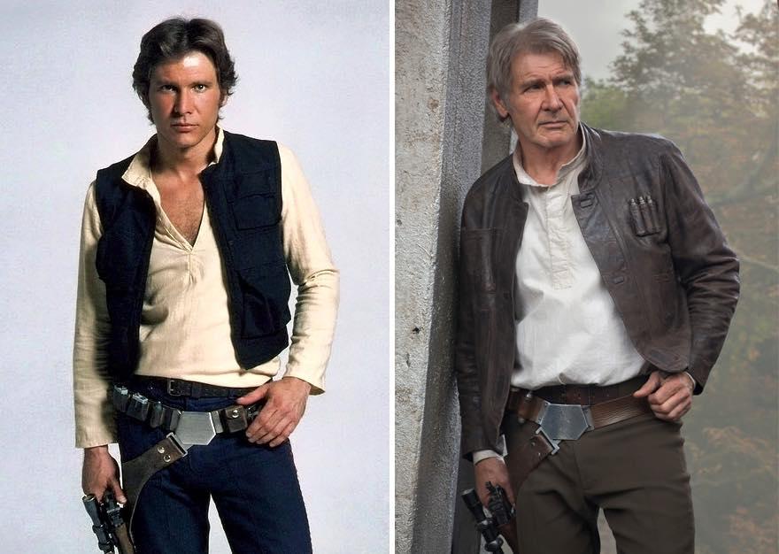 Os atores de Star Wars e o tempo 18