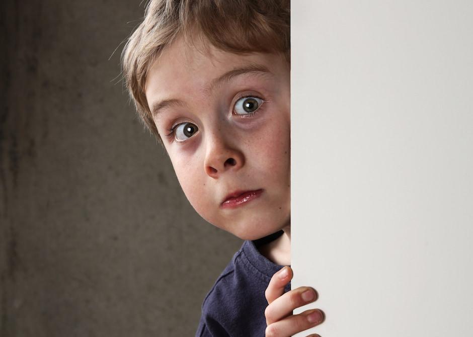 criança assustada x