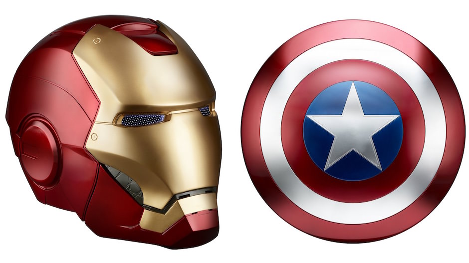 capacete homem de ferro escudo capitão américa real