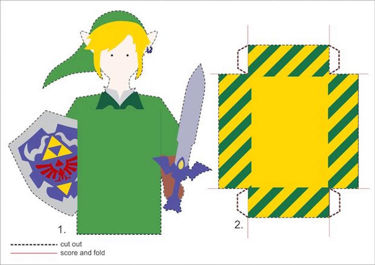 Cartão 3D Zelda - DIY 01