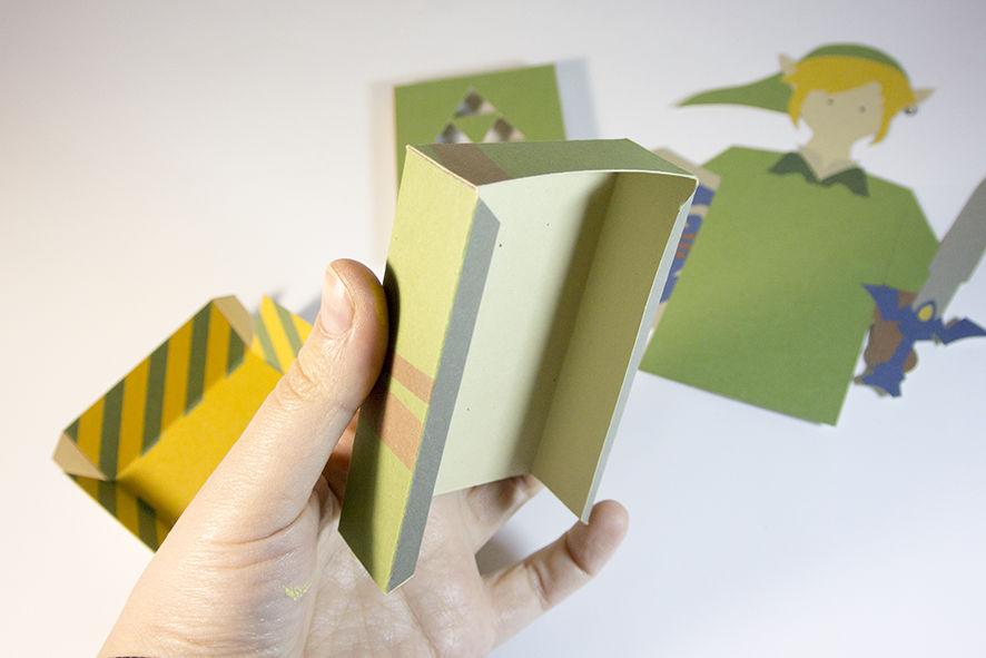 Cartão 3D Zelda - DIY 06