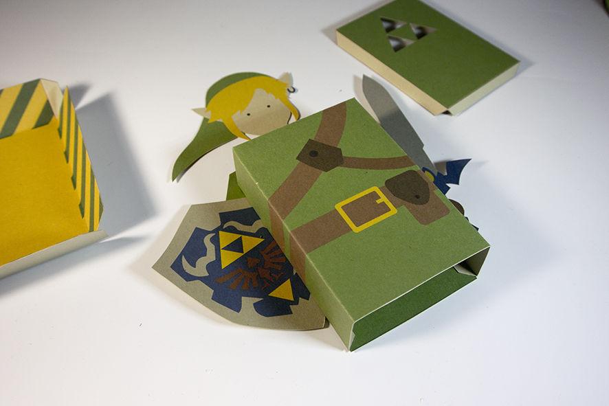 Cartão 3D Zelda - DIY 07