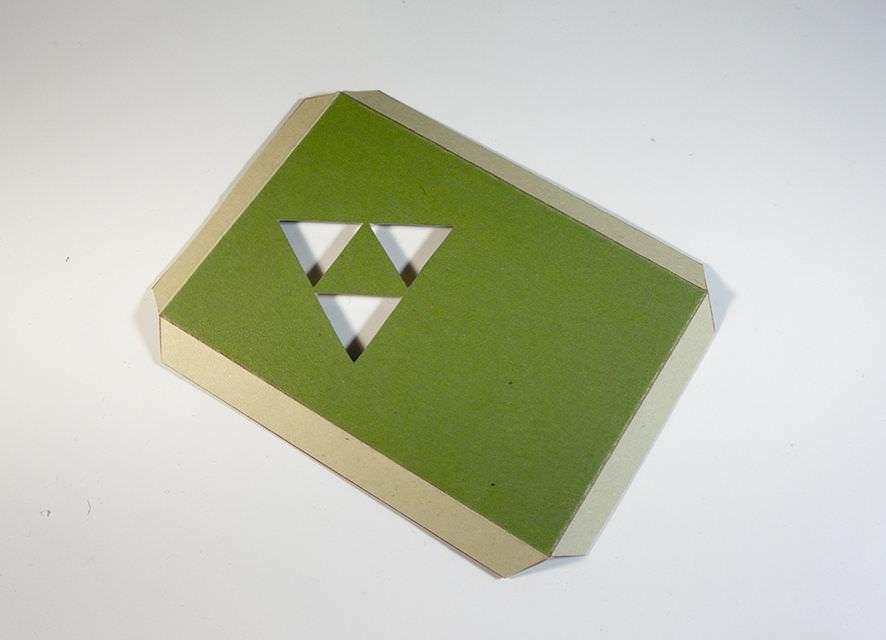 Cartão 3D Zelda - DIY 10