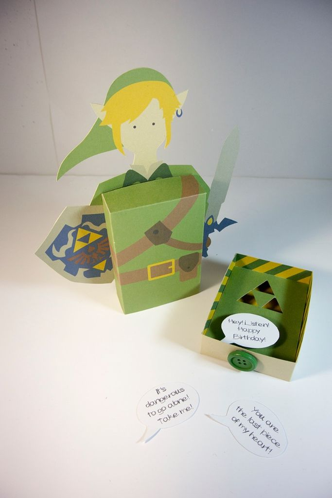 Cartão 3D Zelda - DIY 11