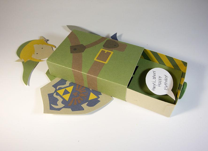 Cartão 3D Zelda - DIY 12