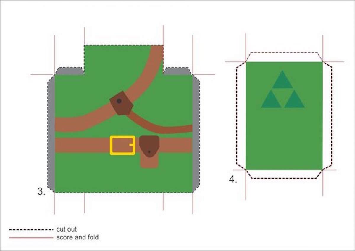 Cartão 3D Zelda - DIY 02