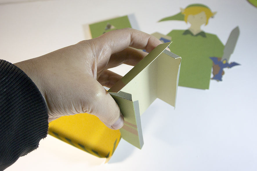 Cartão 3D Zelda - DIY 05