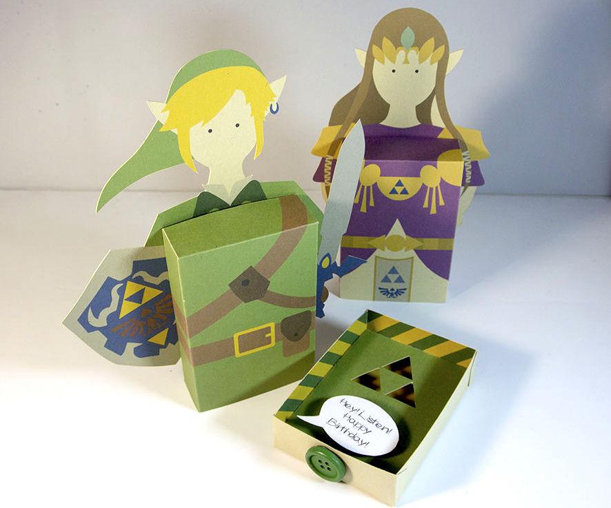 Cartão 3D Zelda - DIY
