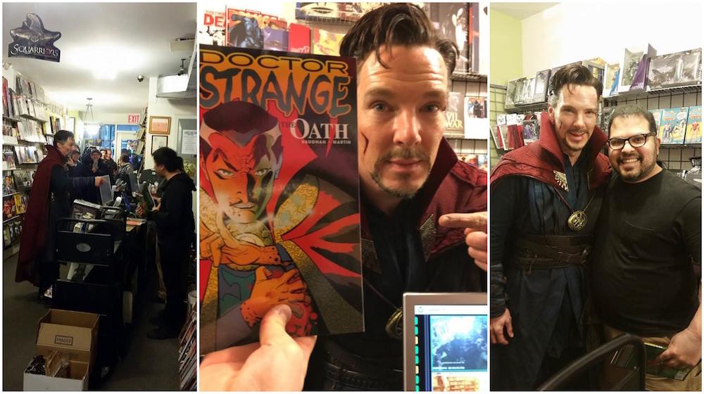 Doutor Estranho entra em uma loja de quadrinhos em Nova York 5