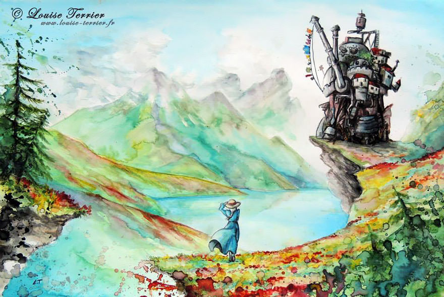 hayao-miyazaki-studio-ghibli-paintings-fan-art-louise-terrier Nerd pai 01