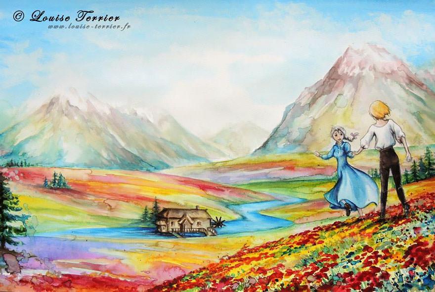 hayao-miyazaki-studio-ghibli-paintings-fan-art-louise-terrier Nerd pai 02