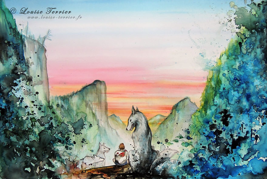 hayao-miyazaki-studio-ghibli-paintings-fan-art-louise-terrier Nerd pai 04