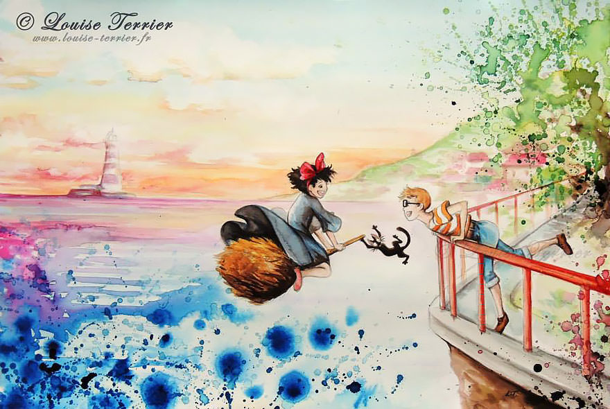 hayao-miyazaki-studio-ghibli-paintings-fan-art-louise-terrier Nerd pai 05