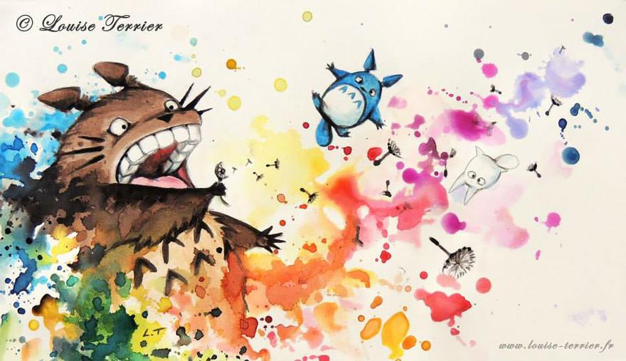 hayao-miyazaki-studio-ghibli-paintings-fan-art-louise-terrier Nerd pai 06