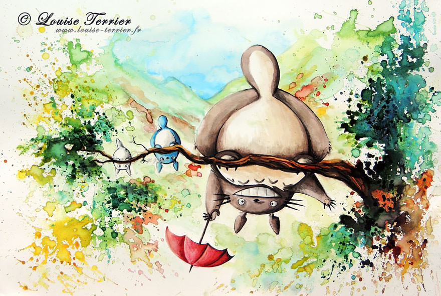 hayao-miyazaki-studio-ghibli-paintings-fan-art-louise-terrier Nerd pai 07