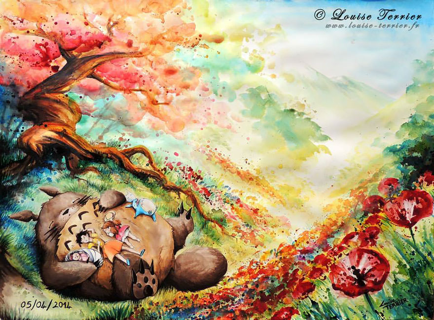 hayao-miyazaki-studio-ghibli-paintings-fan-art-louise-terrier Nerd pai 08