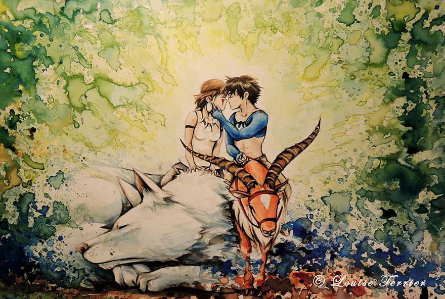 hayao-miyazaki-studio-ghibli-paintings-fan-art-louise-terrier Nerd pai 09