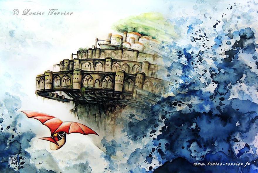 hayao-miyazaki-studio-ghibli-paintings-fan-art-louise-terrier Nerd pai 11